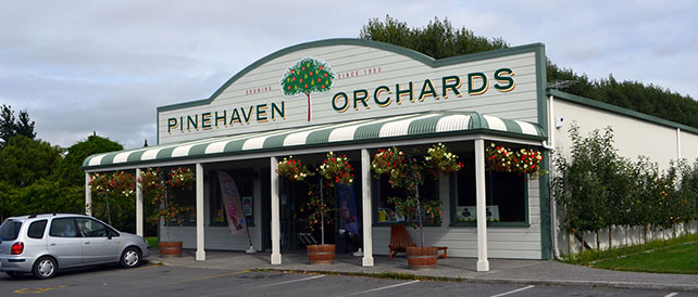 A front on view of the pinehaven store.